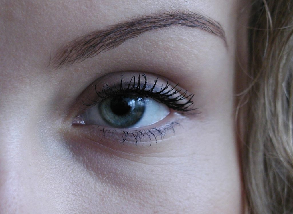 Closeup of Left Eye very few wrinkles post Botox treatment