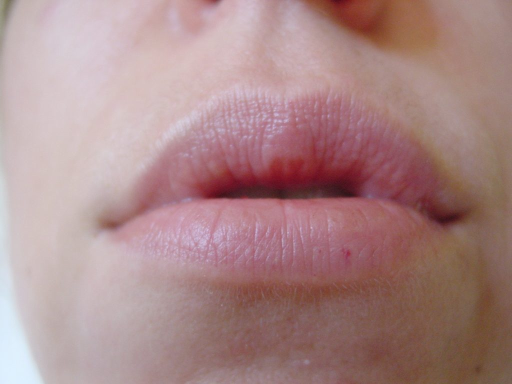 A nice soft natural large shaped lip